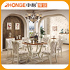 Home furniture dining room sets luxury round dining table chairs for japanese