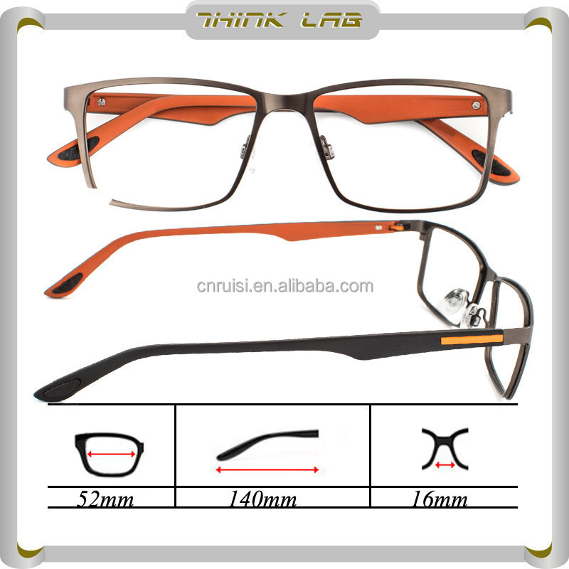 OEM fasion gentleman stainess steel optical glasses frame