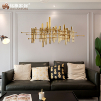 3d wall stickers home decor stainless steel metal wall art decor art and handicraft