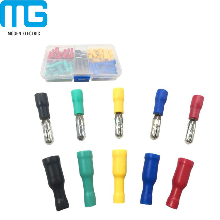 100Pcs Insulated Female/&Male Bullet Connector Car Electric Wire Crimp Terminal