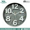 12 inch 3D number lighted outdoor novelty plastic wall clock,3D design for the dial