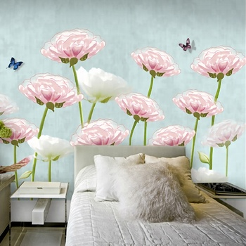 Various Floral Designs 3d Wall Poster Wallpaper Wall Murals For Bedroom Background Decoration Buy 3d Wall Poster 4d Bedroom Wallpaper Background