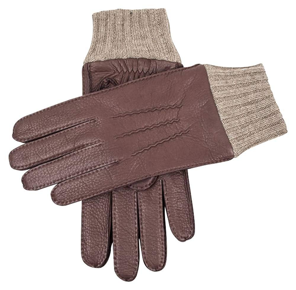 CWJ Mens Winter Warm Leather 100/% Cashmere Lined Touchscreen Gloves Short Classic Thicker Winter Driving Black Brown