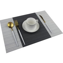 Placemat 200PC/CTN Luxury Placemats Black Grey Dark Green Color Place Mat Plastic Vinyl Woven Table PVC Placemat Set