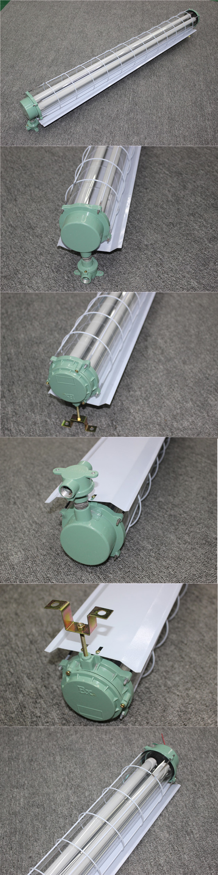Iron made powder coated t8 2x40w explosion proof fitting