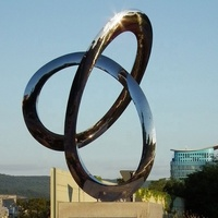 Urban Modern Abstract Stainless Steel Sculpture