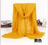New Arrival Chiffon Solid Color Large 150*90CM Sunblock arabic shawl