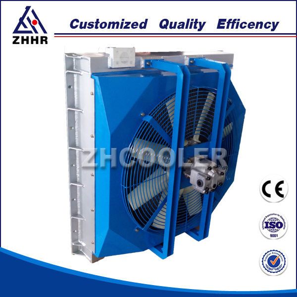 High pressure air cooled hydraulic oil cooler supplier