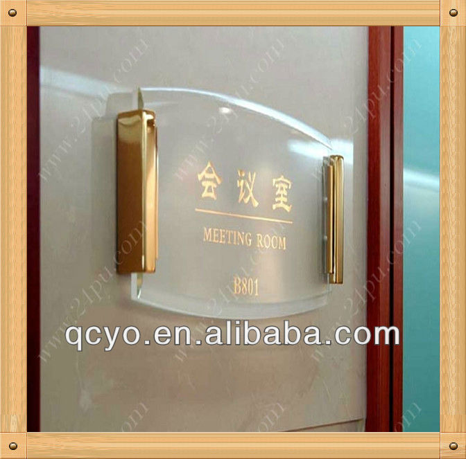 2013 Shenzhen customize manufacture acrylic office sign