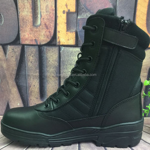 Genuine Leather Black Army Boots/Military Combat Boots PDRM Boots