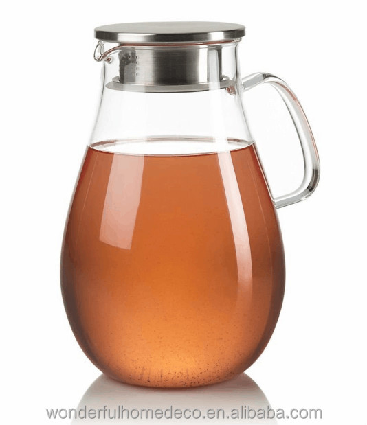 Glass pitcher with lid for hot liquids jing glass tea infuser mug the best glass pitcher heat - Heat resistant glass pitcher ...