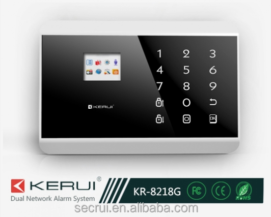 quad-band GSM&PSTN contact ID home GSM alarm system with TFT color display