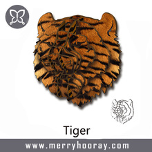 2017 3D Novel Design Home Wall Hanging Wooden Decor Tiger Sticker Decor