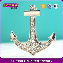 cheap price high quality crystal anchor silver tool charms for locket