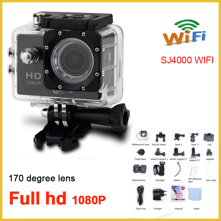 SJ4000 newest wifi remote control waterproof sports camera