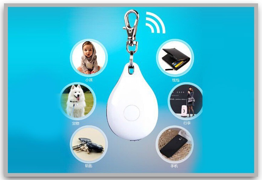 Portable Smart Anti-lost Bluetooth 4.0 Tracer GPS Locator Tag Alarm Wallet Key Pet Dog Tracker (white)