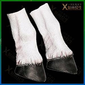 2015 - X-MERRY Haunted house Horse Costume Party Hooves Latex Halloween Gloves Hoof Accoutrements Pony