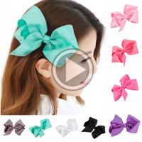 Wholesale 6 Inch Big Girl Grosgrain Ribbon Hair Bow Supplies for Sale