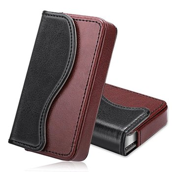 Business card holder fintie premium pu leather handmade universal business card holder fintie premium pu leather handmade universal card case organizer with magnetic closure colourmoves