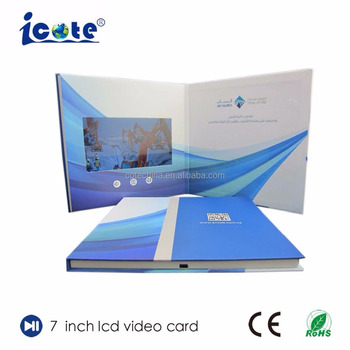 Cote Hardcover 7 Inch MP4 HD Video LCD Brochure Player With Paper Box Packing