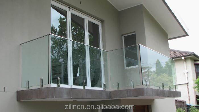 Modern house design balcony railing design glass with handrail