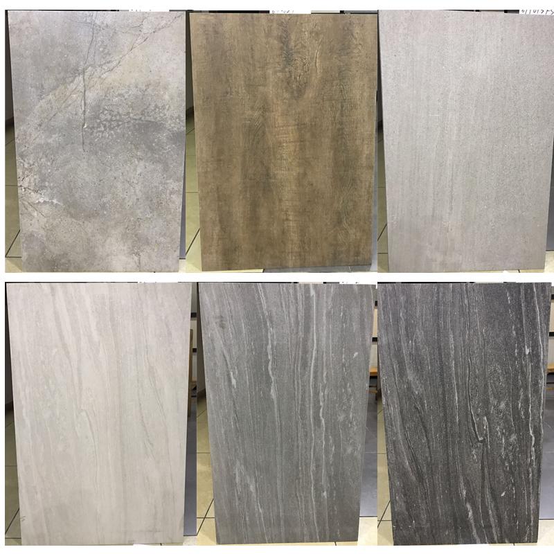 600x900mm Dark Grey Cement Large Format Ceramic Porcelain Tile Discontinued Glazed Rustic