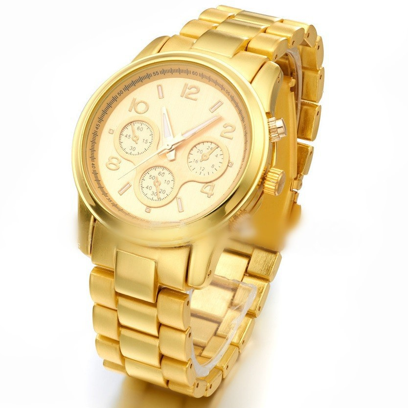 Hot Sales Geneva Watches Watch Women Luxury Brand Alloy Digital quartz watch Men Female Male Calendar Wristwatch Reloj Mujer H26