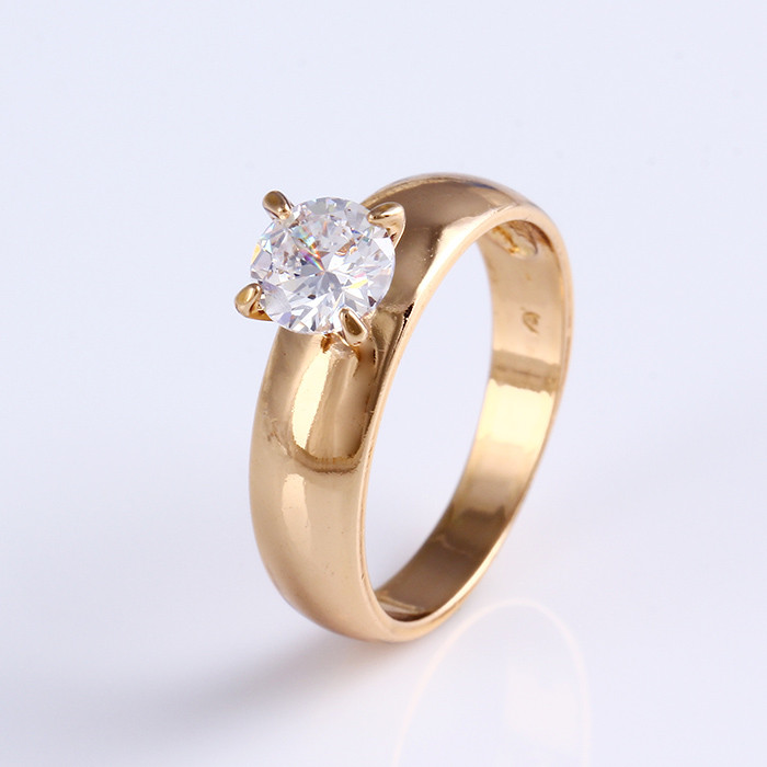 11799 Promotional big diamond custom ring, 18k gold color gold engagement ring