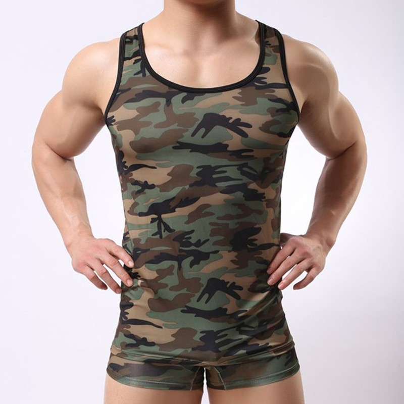 af074e9270475 Men s Tank Tops Fashion Army Green Cotton Brand Sport Sleeveless  Undershirts For Male Bodybuilding Tank Tops White Casual Summer - Buy Men s Tank  Tops