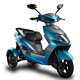 High quality Non Slip Three wheels electric scooter with Rear dual drive for adult and elderly
