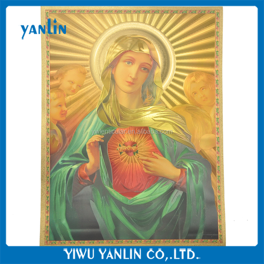 Gold Foil Picture of Virgin Mary