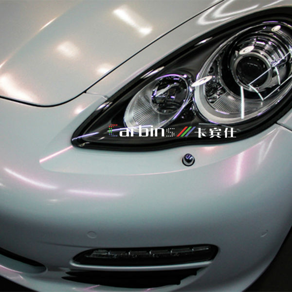 Gloss Chamelein White To Red Pearl White Vinyl Car Wrap Film