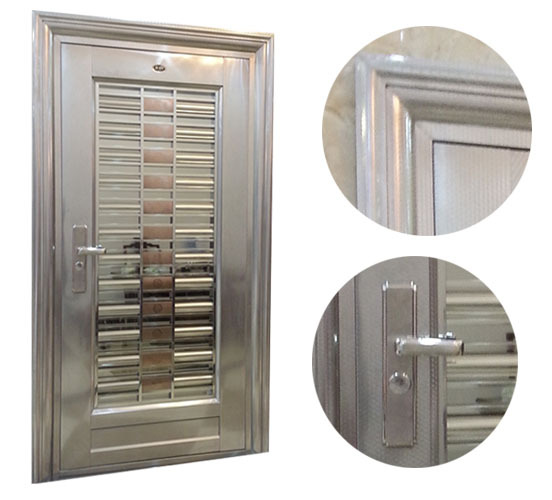 Standard size 2100 950cm 304 stainless steel gate design for Front door design with grill