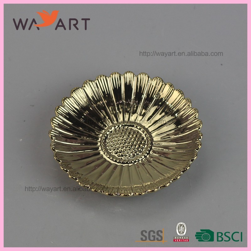 Popular Gold Round Shaped Ceramic Antique Charger Plates Buy