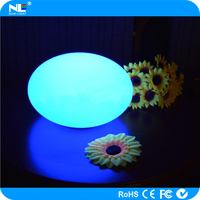 Garden illuminated LED lighted oval globe ball / waterproof LED mood light ball