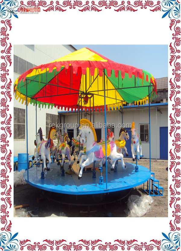 Shock resistant mini carousel rides for sale/small kids carousel rides/carousel horse ride for sale with CE approved
