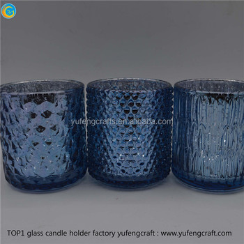 Blue Mercury Glass Votives Candle Party Centerpieces Used Buy
