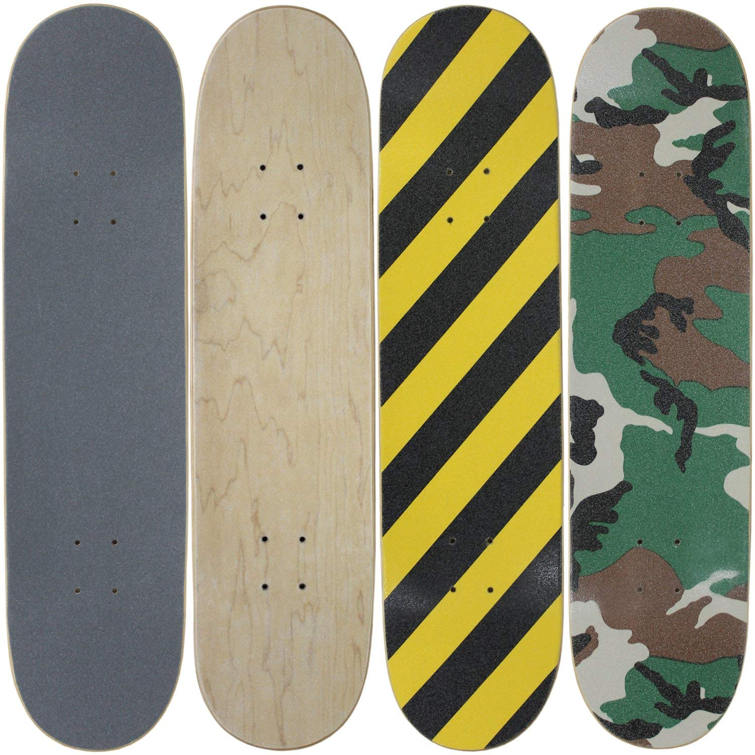 "Moose 4 Blank Skateboard Decks 8.0"" Natural Pre-Gripped Patterns BULK LOT"