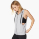 Factory Hot Latest women athletic wear zipper loose tank top women bodybuilding wear