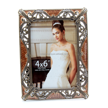 Photo frame creative handmade studded metal framed tables alloy rectangular photo frame
