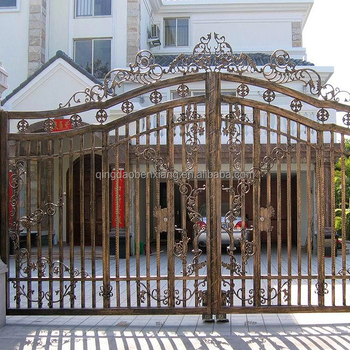Wrought Iron Steel Gates Front Main Doors Matel Gate Design Interior Door Galvanized Double