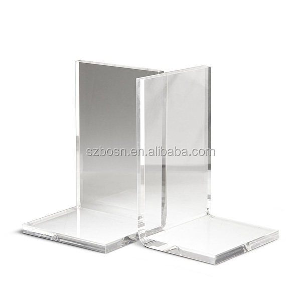 New Design clear Acrylic Bookends lucite For Sale