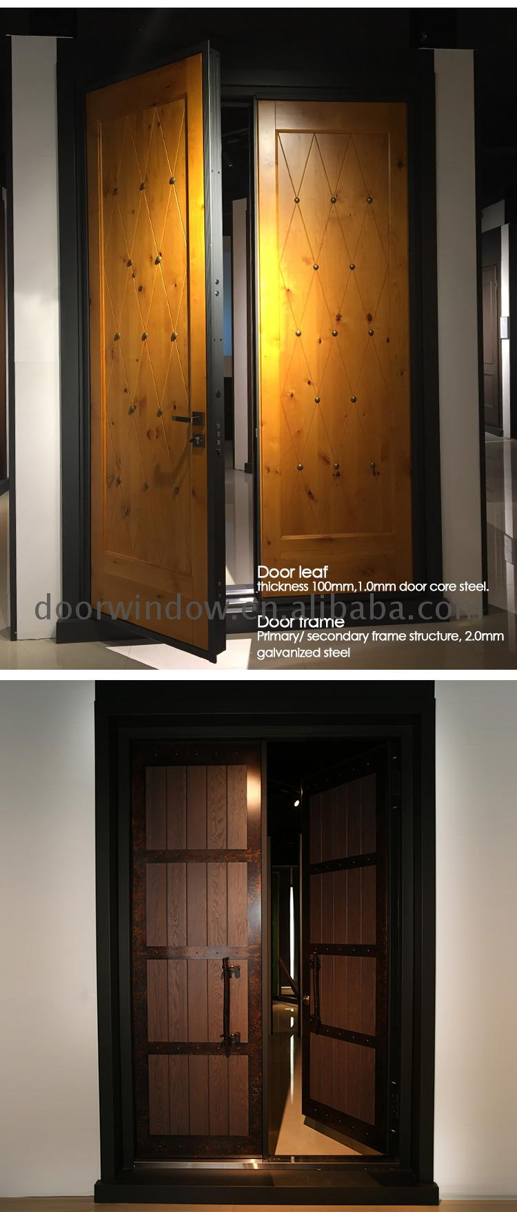 Wooden entry doors double panel design catalogue