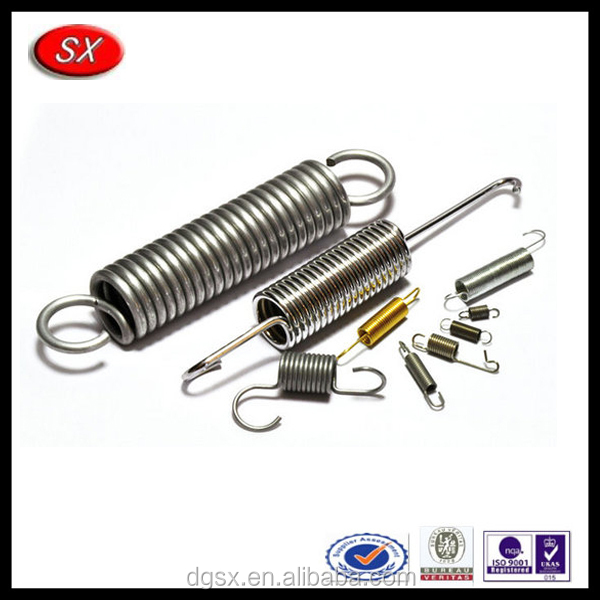 OEM stainless steel double hook tension spring,adjustable tension coil spring manufacturer