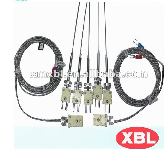 armoured J type thermocouples flexible wire 304SS