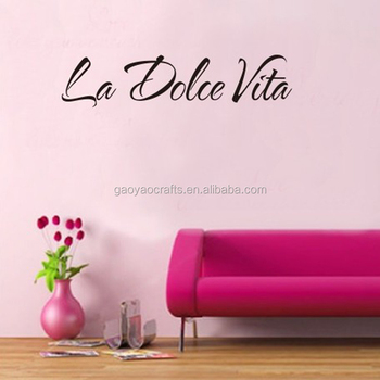 La Dolce Vita Quote Vinyl Art Wall Stickers Decor Mural Decal ...