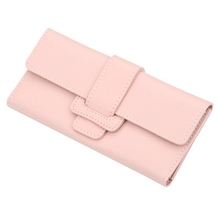 6 Color Latest 품 삼단 Clutch Bag Multifunction 버클 Zip Coin Purse 긴 Zipper Clutch 지갑 대 한 Women