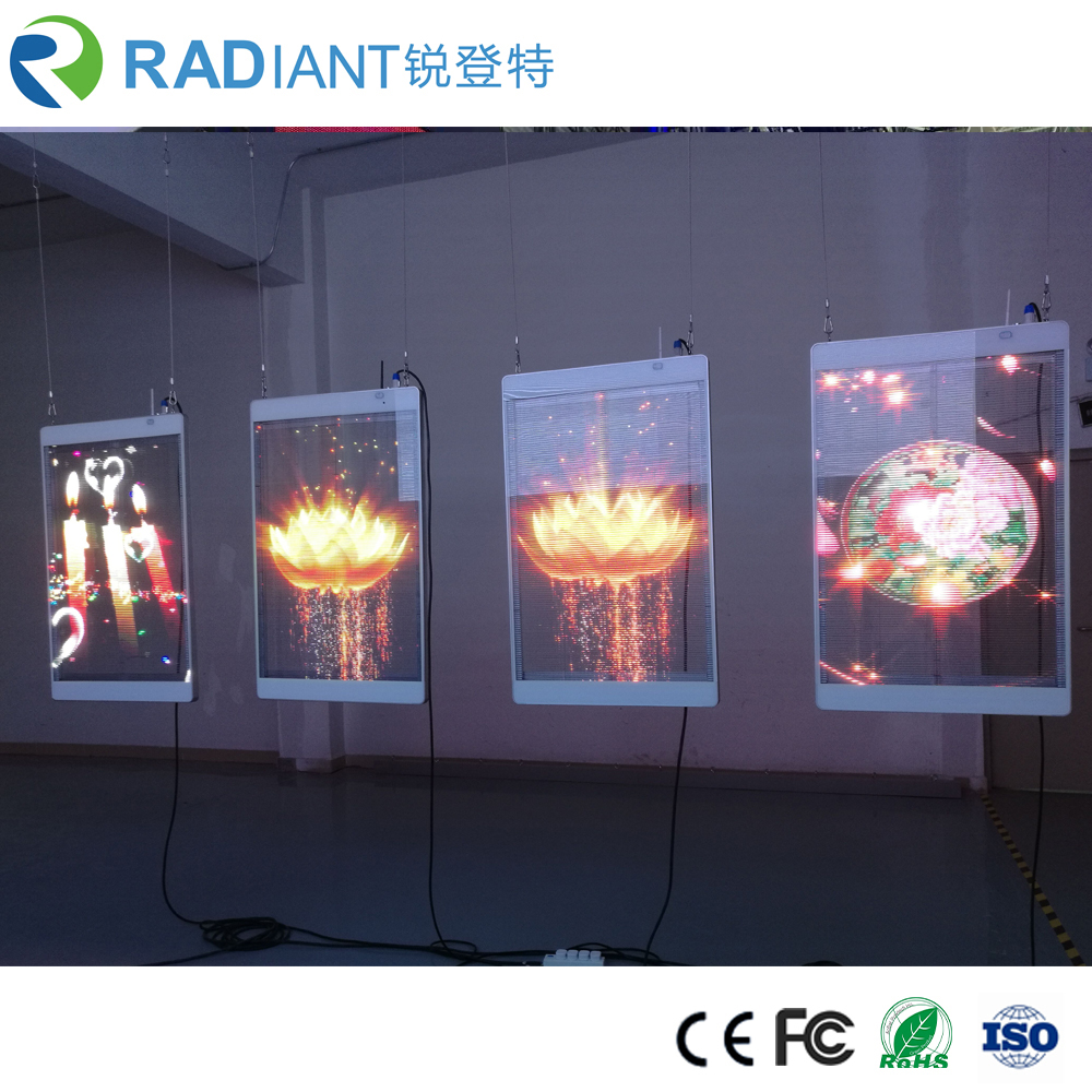 RDT-TP01A China Best Quality High Brightness P3.9 Window Glass Transparent see through <strong>LED</strong> <strong>display</strong>