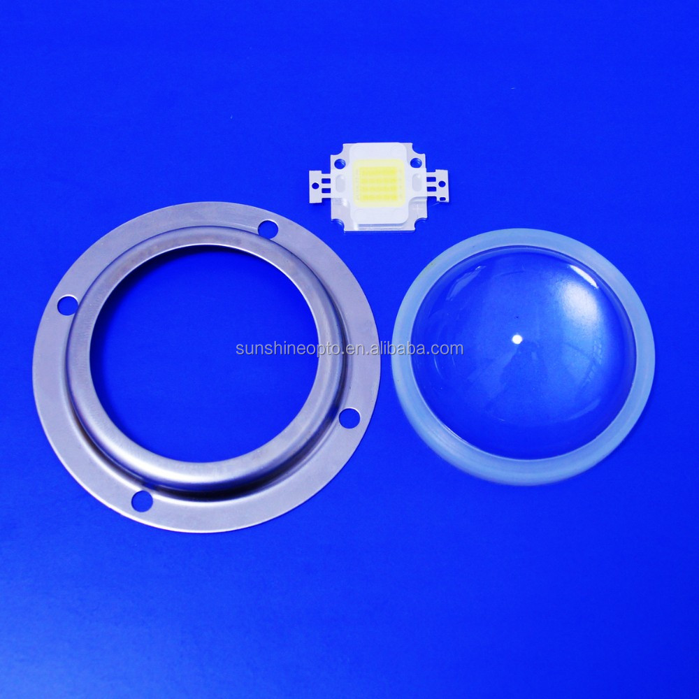 10w high power led 1000lm white with Glass lens