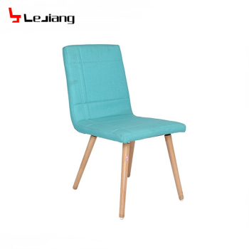 Free Sample Grey White Blue Design Fabric Dining Chair